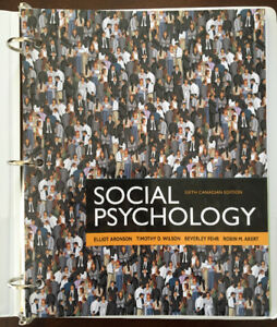 Social Psychology Textbook WITH Binder