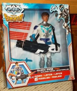 MATTEL - MAX STEELE - RISE OF ELEMENTOR - QUICK FIRE MAX - NEW