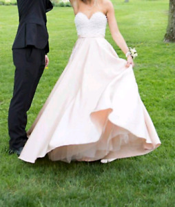Champagne Rose Pink Prom Dress Size 0
