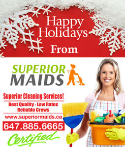 Superior Maids are proud to serve GTA community since 2009