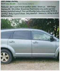Reduced 2009 Dodge Journey