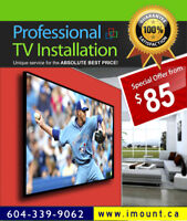 Premium TV Installation / TV Wall Mounting vy imount-TV