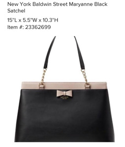 Kate spade New York Baldwin street maryanne black and rose bag