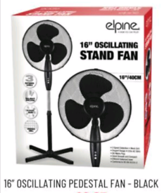 16 inch White Standing Fan with 3 speed settings