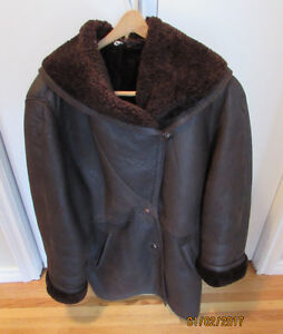 Woman's Brown Shearling Coat