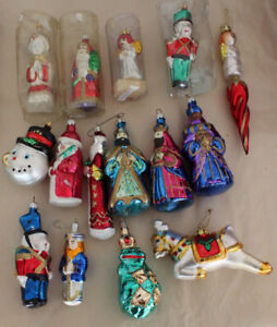 15 Glass Christmas Tree Ornaments Decoration - Most Large Size
