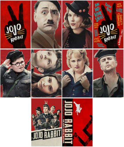 10pcs Jojo Rabbit Movie 2019 Mirror Surface Card Sticker Promo Card Poster -iwkq