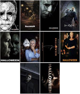 10pcs Halloween Movie 2018 Mirror Surface Card Sticker Promo Poster Sticker - Halloween 10 Movie