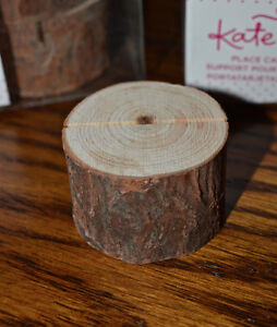 Wedding Decor - Kate Aspen Rustic Real-Wood Place Card