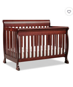 Cherry Sleigh Crib and Mattress