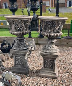 Large stone garden pot planters ornaments lanterns ornaments