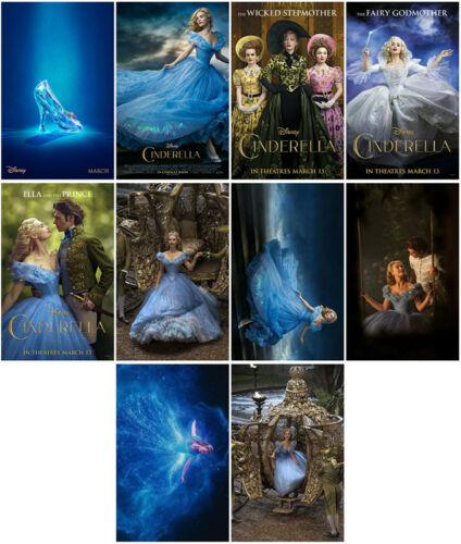 10 Cinderella Movie 2015 Mirror Surface Card Sticker Promo Card Poster Sticker A