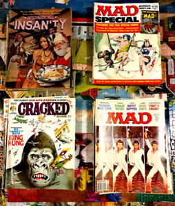 Mad magazines, as well as Cracked magazines, etc.