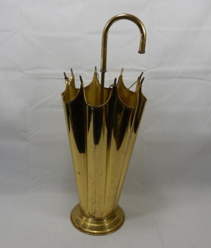 "Vintage Brass Umbrella / Cane Stand 25.5"" Tall"