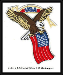 ÉCUSSON USA EAGLE American FLAG BIKER RARE Patch Badge