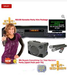 DIY Karaoke Party Package Hire £50