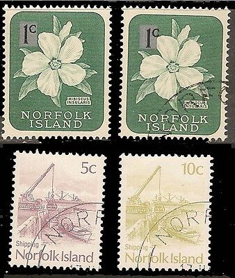NORFOLK ISLAND USED 479-480    MNH     TWO OF EACH          (R3958)