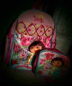 Dora backpack and lunch bag
