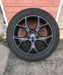 Set of 4 17inch Ford OEM Wheels and Winter Tires  (5 x 108)