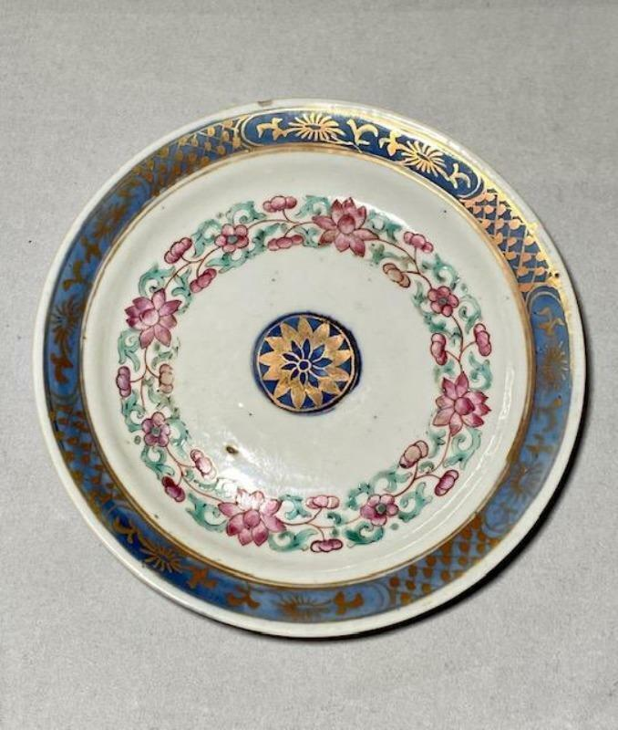 18th Century Chinese Export Porcelain Dish for French Market