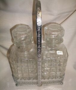 Vintage Liquor Bottle Set