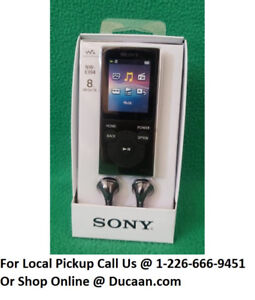 Sony Walkman 8GB Digital Music Player (NWE394/B) – Black