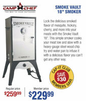 "Camp Chef Smoke Vault 18"" Smoker - NOW $229.99"
