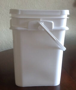 4 GAL/15L PLASTIC BUCKET WITH SNAP LID, MULTI-PURPOSE