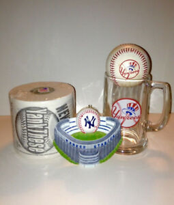 New York Yankees Glass Beer Mug Baseball Toilet Paper Christmas