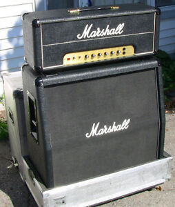 Marshall 50W Guitar Amplifier, Speaker Cabinet and Road Cases