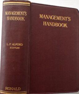 [First Edition] - MANAGEMENT'S HANDBOOK, 1924 !!!