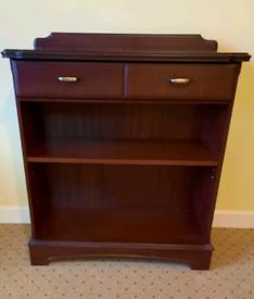 Mahogany bookcase and drawer