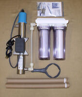 4 GPM Whole House UV Sterilizer with Filter Set