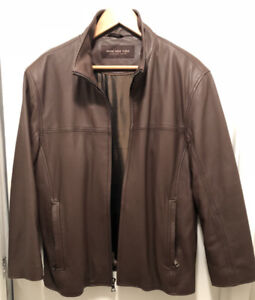 MARC NEW YORK / ANDREW MARC LEATHER JACKET (BROWN, M)