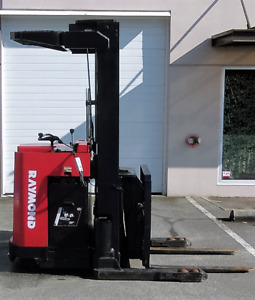 RAYMOND DOUBLE REACH STAND FORKLIFT for Sale!