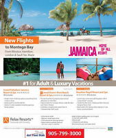 Flights to Jamaica from Windsor, Hamilton, London & Sault St Mar