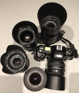 Nikon F601 et Ensemble de lentilles Sigma