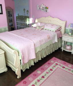 Girls 7 piece white bedroom set $2900.00