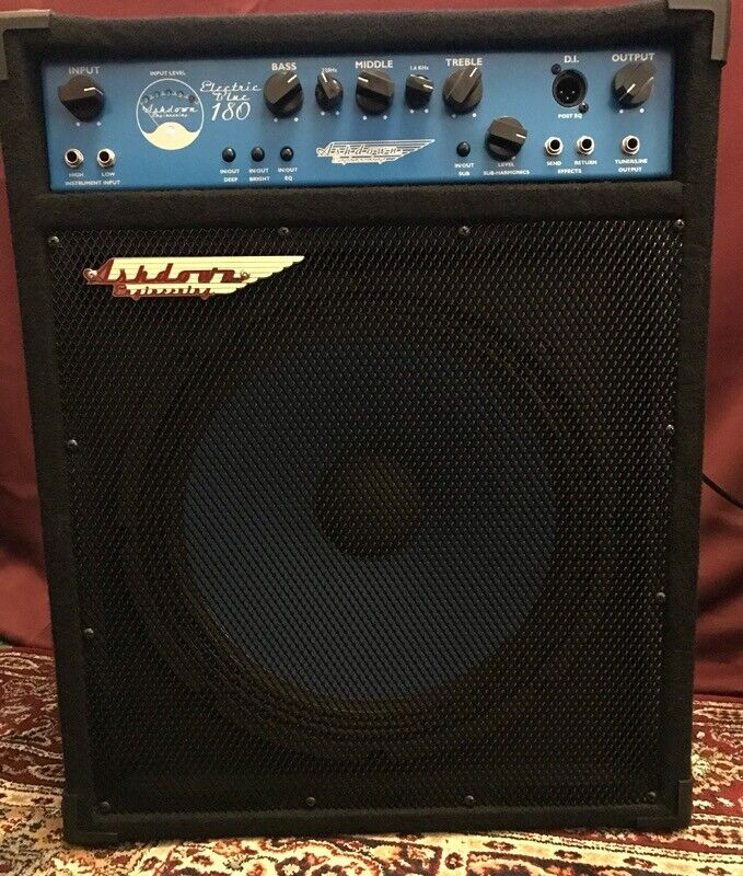 ashdown electric blue 180 watt bass guitar amp combo amplifier in alloa clackmannanshire. Black Bedroom Furniture Sets. Home Design Ideas