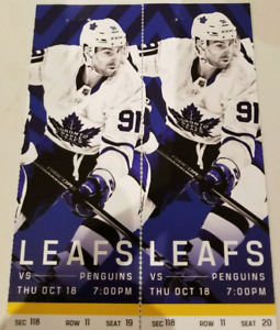 Leafs vs Penguins Oct 18th - Gold seats