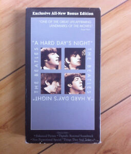 the Beatles Hard Day's Night VHS B+W movie (used)