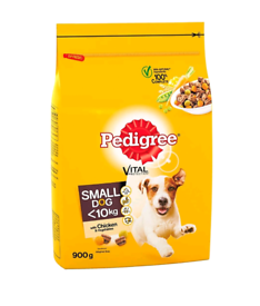 Pedigree Dry Dog Food for Adult Small Dogs from 5-10 kg - 4 x 900g