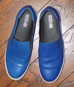 Blue Leather Kenneth Cole Reaction Slip On Shoe