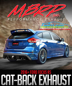 MBRP Performance Cat-Back Exhaust - 2016+ FORD FOCUS RS