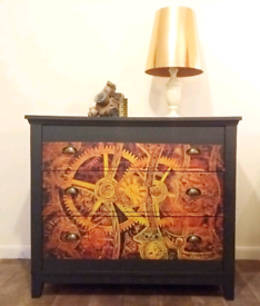 Steampunk Inspired Chest of Drawers