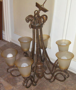 6 Globes chandelier for tall ceiling