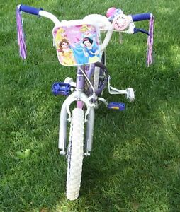 """Disney Princess bike with 16"""" tires with training wheels"""