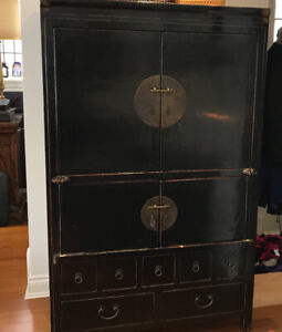 Asian-Style Black Cabinet