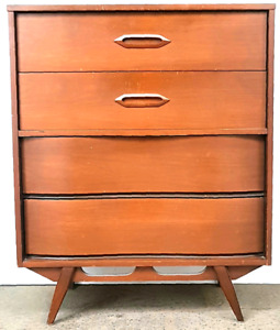 Commode Vintage Noyer Mid Century Walnut dresser 1960