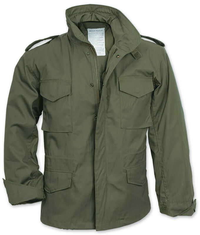M65 Us Military Field Jacket Army Combat Olive Liner Mens Vintage Coat Parka Top